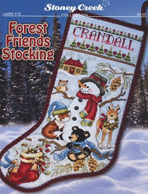Forest Friends Stocking - (Cross Stitch)