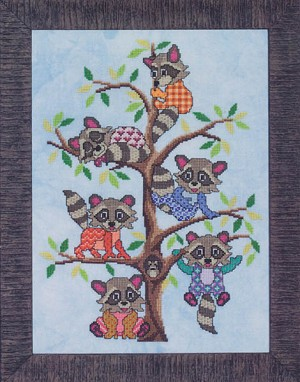 Rambunctious Raccoons - (Cross Stitch)