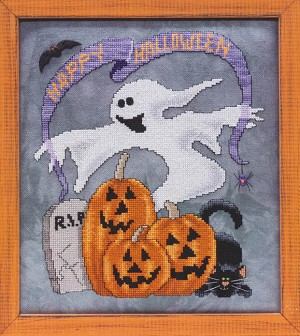 Ghost in the Graveyard - (Cross Stitch)
