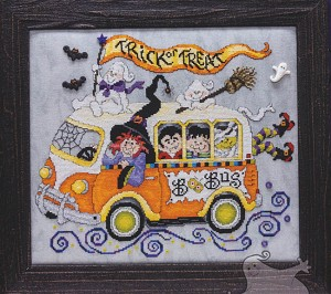 Boo Bus - (Cross Stitch)