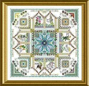 The Medieval Dyer's Garden Mandala - Tinctorium - (Cross Stitch)