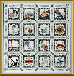 The Sea Quilt - (Cross Stitch)