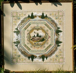 Alpine Seasons Mandala Garden - (Cross Stitch)