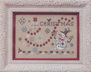 Christmas and Snowflakes - (Cross Stitch)