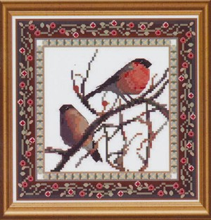 Bird Tapestries 1 - Bullfinch - (Cross Stitch)