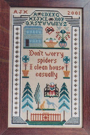 Don't Worry Spiders - (Cross Stitch)