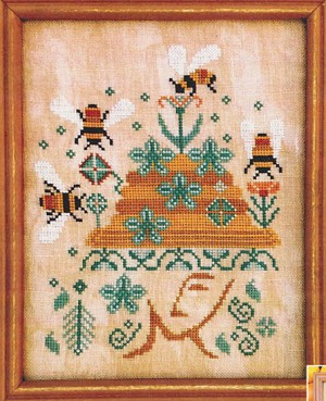 Bees in Her Bonnet - (Cross Stitch)