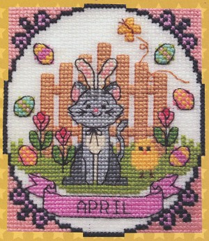 A Year of Animal Fun - April - (Cross Stitch)