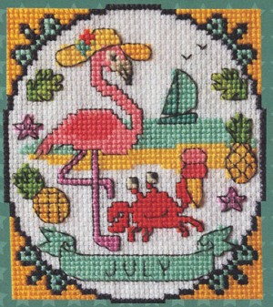 A Year of Animal Fun - July - (Cross Stitch)