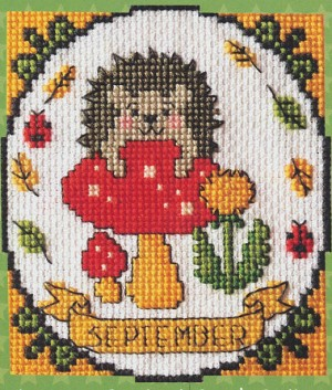 A Year of Animal Fun - September - (Cross Stitch)