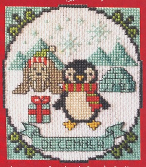 A Year of Animal Fun - December - (Cross Stitch)