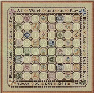 A Quaker Game Board - (Cross Stitch)