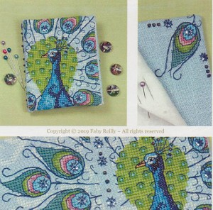 Peacock Needlebook - (Cross Stitch)