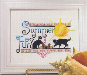 Summer Fur - (Cross Stitch)