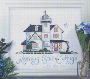 Morning Star Cottage by the Sea - (Cross Stitch)