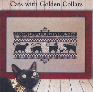 Cats with Gold Collars - (Cross Stitch)