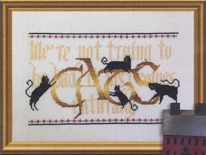 Cats - We're not trying to be bad - (Cross Stitch)