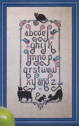 Cats Learn Their ABCs - (Cross Stitch)