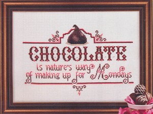 Chocolate Monday - (Cross Stitch)