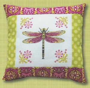 Dragonfly Pillow - (Cross Stitch)