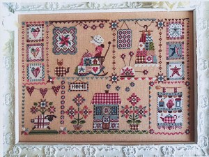 Quilting in Quilt - (Cross Stitch)