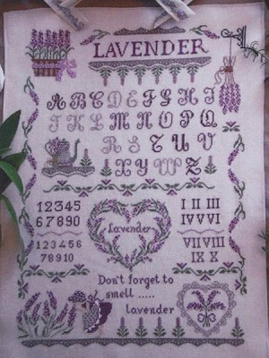 Lavender Sampler - (Cross Stitch)