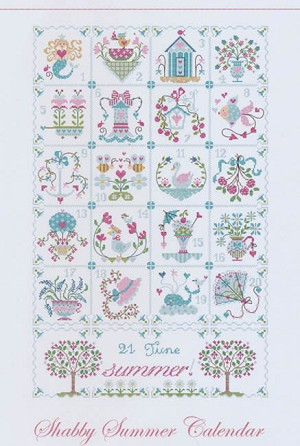 Shabby Summer Calendar - (Cross Stitch)
