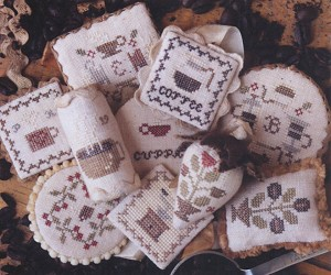 Festive Little Fobs Coffee Edition - (Cross Stitch)