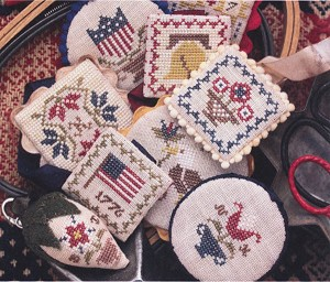 Festive Little Fobs Americana Edition - (Cross Stitch)