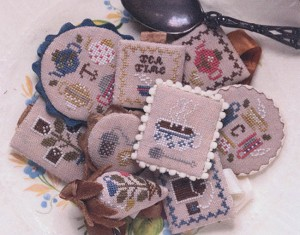 Festive Little Fobs Teatime Edition - (Cross Stitch)