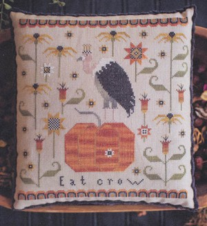 Eat Crow - (Cross Stitch)