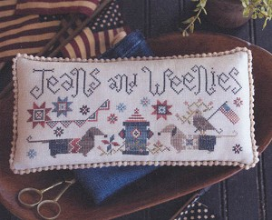 Jeans and Weenies - (Cross Stitch)