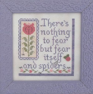 Nothin to Fear but Spiders - (Cross Stitch)