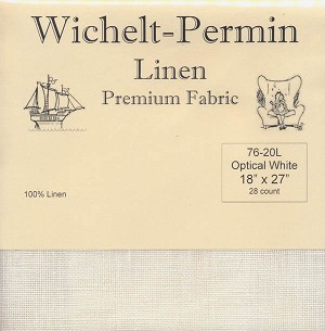 "28 Count Optical White Linen Wichelt 18"" x 27"" - (Cross Stitch)"