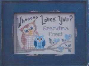 Whoooo Loves You? Grandma Does! (blue for boy)