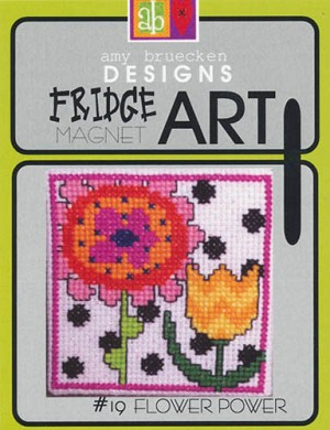 Fridge Art Flower Power Magnet