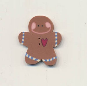 Gingerbread Bakery Button Pack Fanci That
