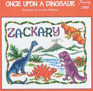 Once Upon a Dinosaur - (Cross Stitch)
