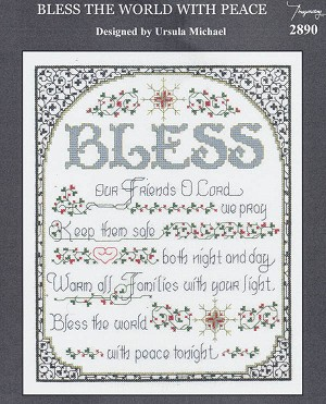 Bless the World with Peace - (Cross Stitch)
