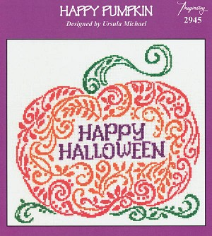 Happy Pumpkin - (Cross Stitch)