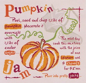 Pumpkin Jam - (Cross Stitch)