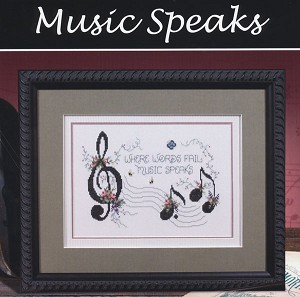 Music Speaks - (Cross Stitch)